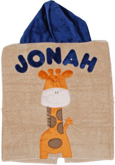 Tan Giraffe Toddler Hooded Towel