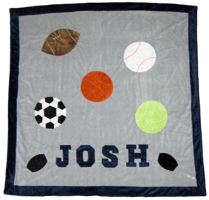 Varsity Sports Minky Blanket