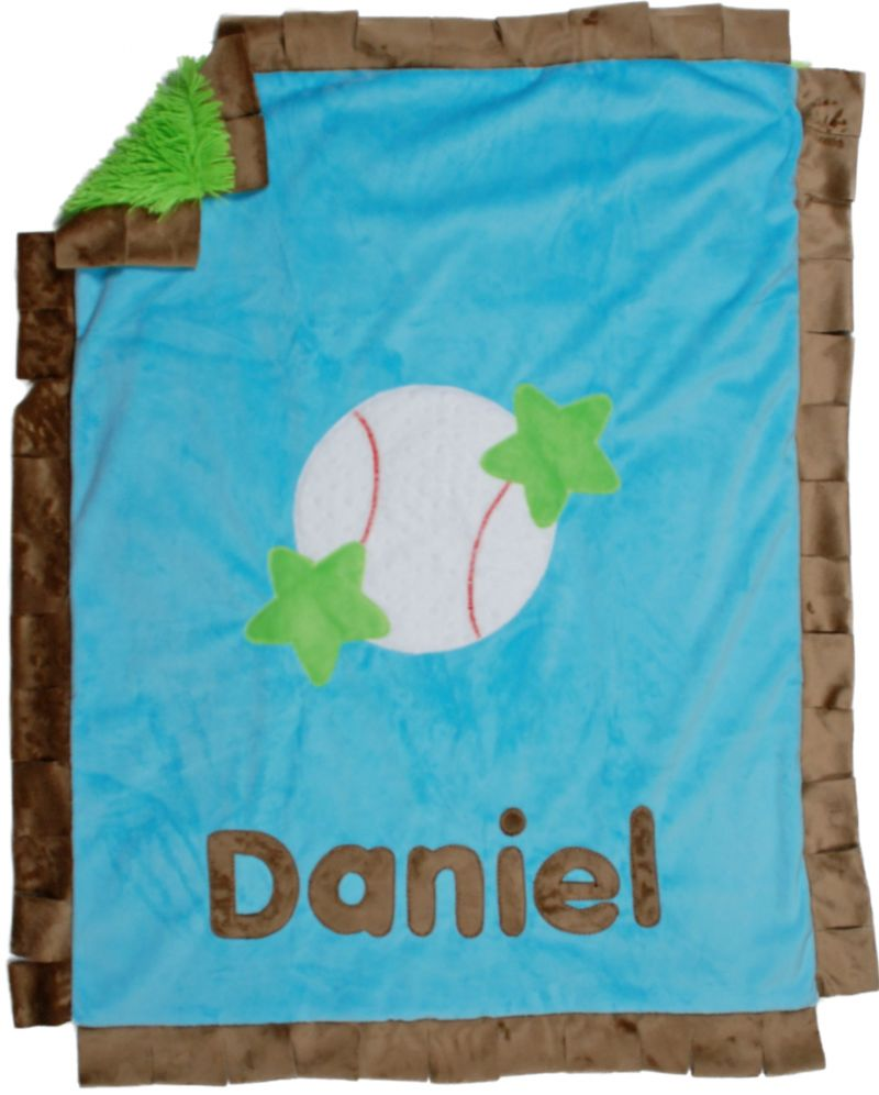 Basic Baseball Minky Blanket