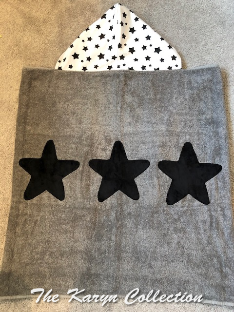 """Gray """"all star"""" hooded towel    (Temp. OUT OF STOCK.... due in 11/2021)"""