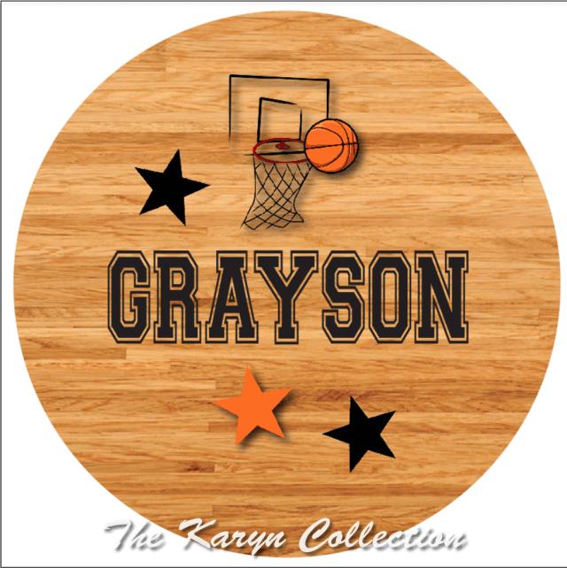 Grayson's Basketball plate and bowl set.....