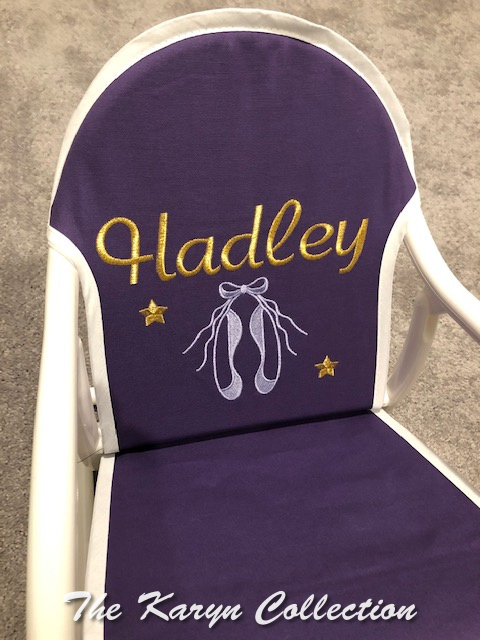 Hadley's Purple Ballerina Slipper Rocker