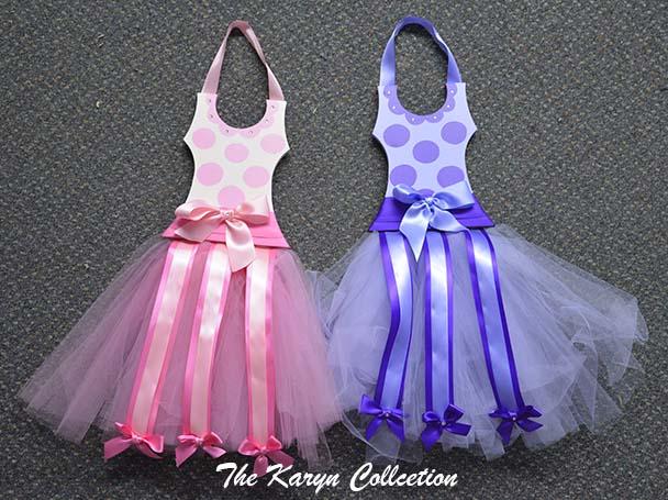 Tutu Pink or Lavender Dots Ballerina Barrette Holder