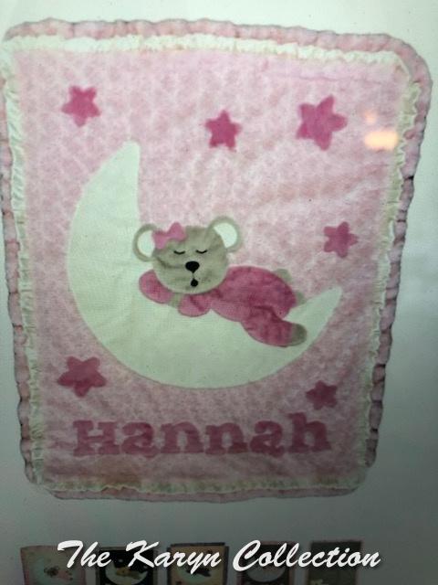 Hannah's Goodnight Teddy Minki blanket with Double Ruffle!