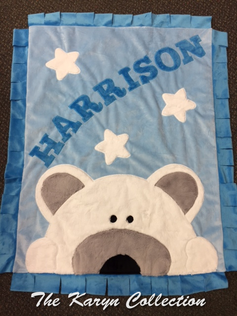 Harrison's Polar Bear Minki Blanket.... adorable no matter what the weather!!