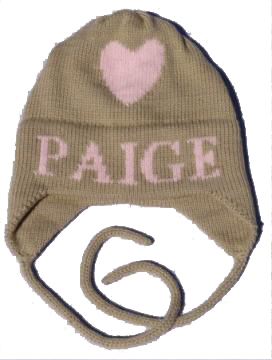 Paige's Single Heart Hat with Earflaps
