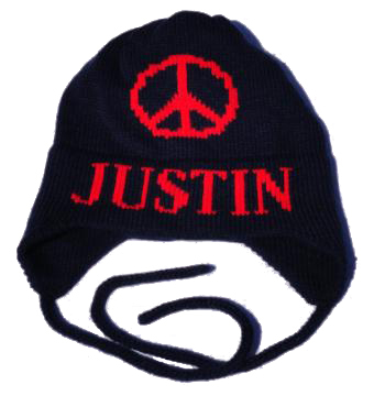 Justin's Large Piece Sign Hat with Earflaps