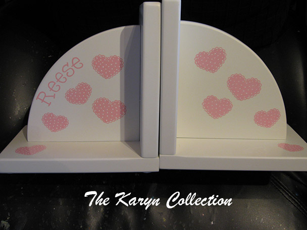 PolkaDot Hearts Bookends