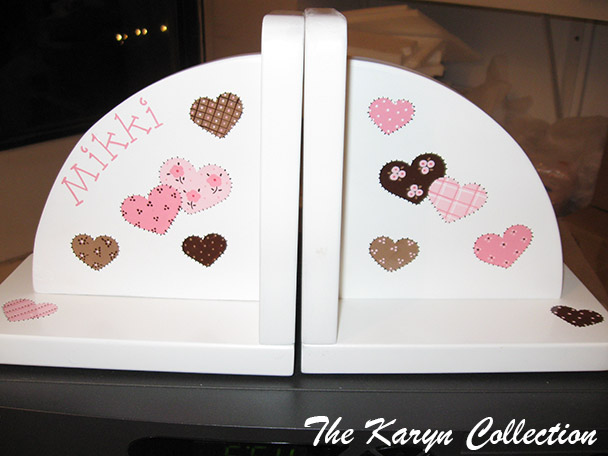Patchwork Hearts Bookends