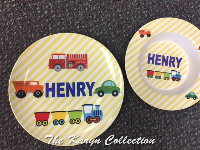 Henry's 2-Piece Set - transportation with yellow stripe background