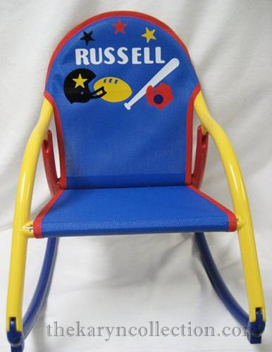 Blue Sports Rocking Chair