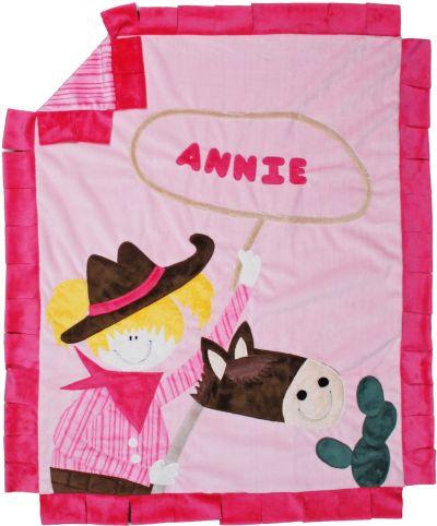 Howdy Partner Girl Minky Blanket