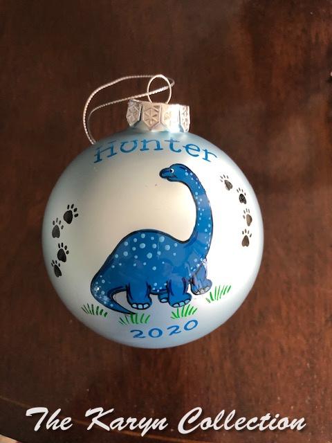 Hunter's Dinosaur Ornament....