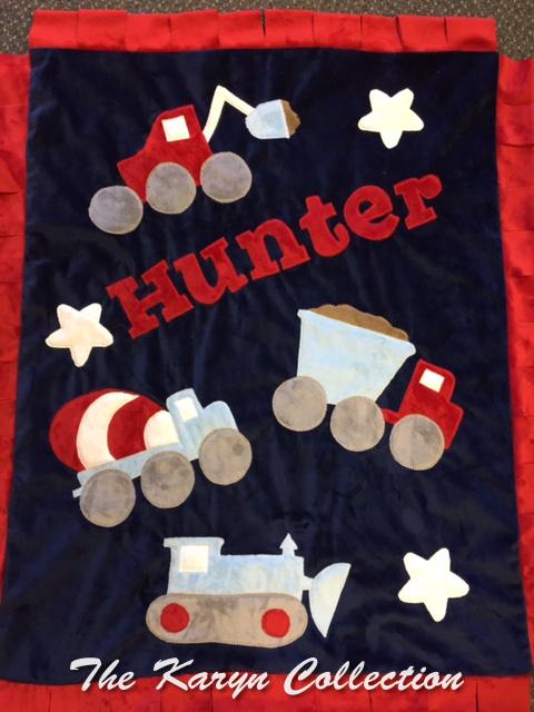 Hunter's Trucks all  Minky Blanket