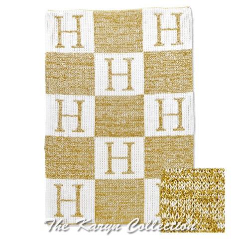 Metalic Initial and Blocks Blanket