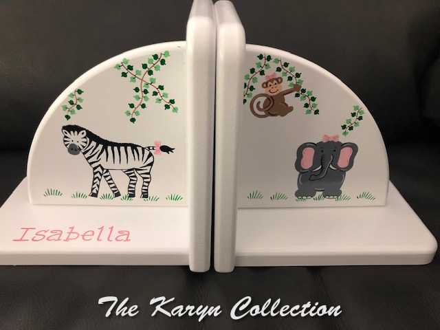 Isabella's Zoo Animal Bookends