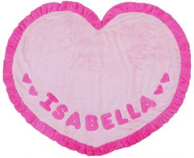 Isabella Heart Shaped Minky Blanket