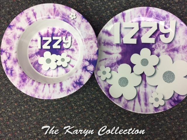 Izzy's Purple Tie Dye 2-Piece Set - Oven Safe!