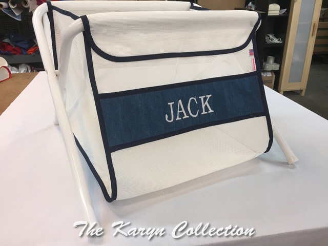 Jack's Navy on White Toy Bin