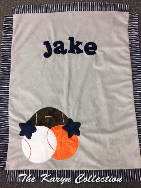 Jake's BASIC sports minky BLANKET