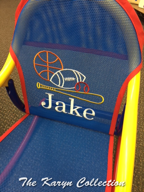 Jake's Sports Rocking Chair on primary mesh
