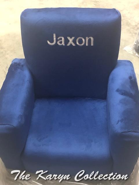 Jaxon's Navy MINKY toddler rocker