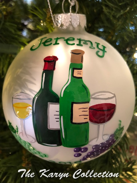 Jeremy's Wine Ornament