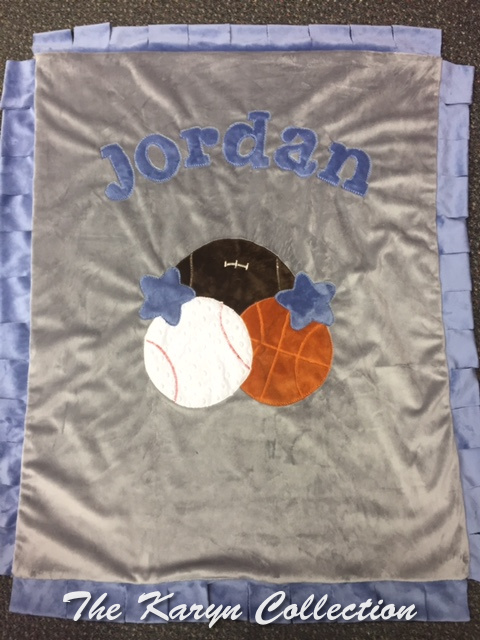 Jordan's BASIC  sports minky BLANKET