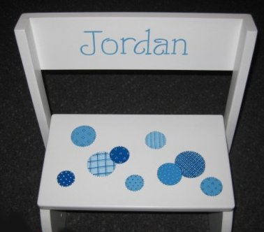 Patchwork Polka Dots Design for our 2 step stool