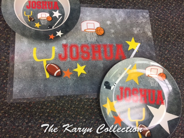 Joshua's All Sports 3-Piece Dish Set