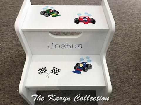 Joshua's race car 2-step stool