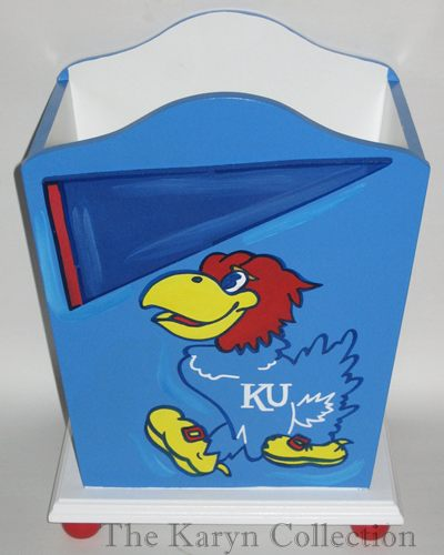 Kansas Jay Hawks Trash Can