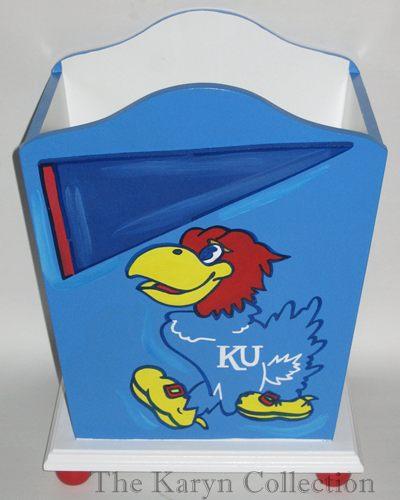 Kansas Jay Hawks Trash Can