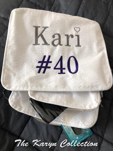 Kari's White 3 piece traveling set