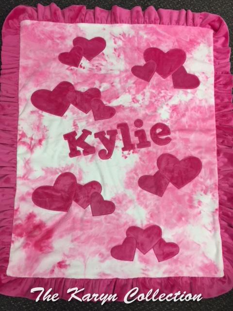 Kylie's Hearts Minky Blanket