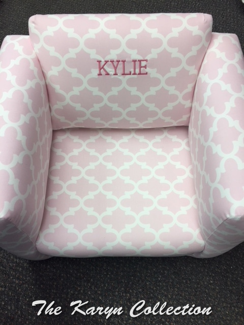 Kylie's Upholstered Chair in our new Fulton Bella Twill