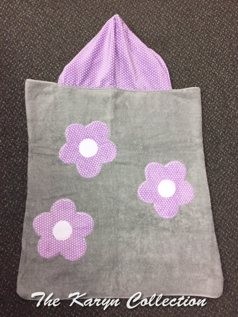 Lavender Flowers Towel on gray
