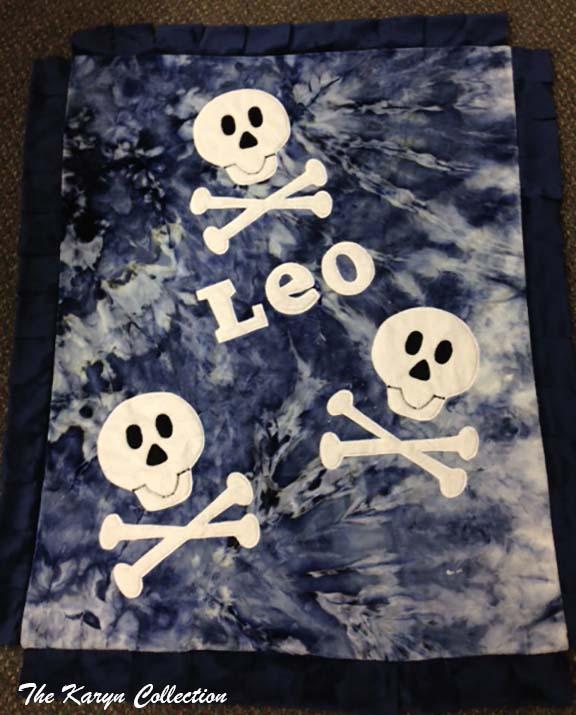 Leo- Skull & Crossbone Minky Blanket