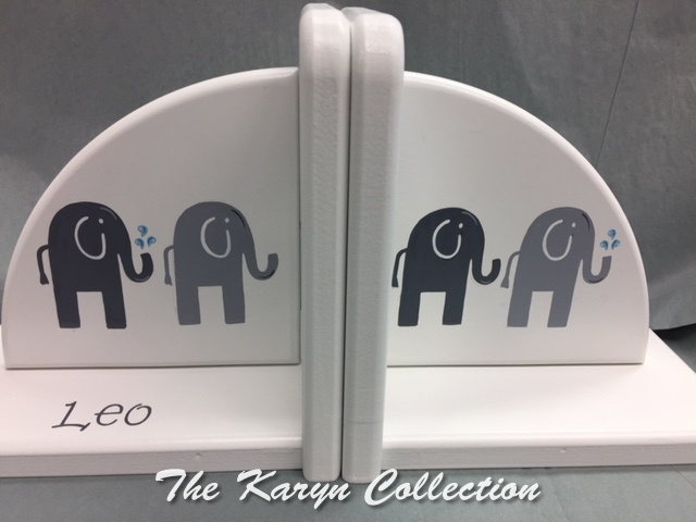 Leo's Elephant Bookends