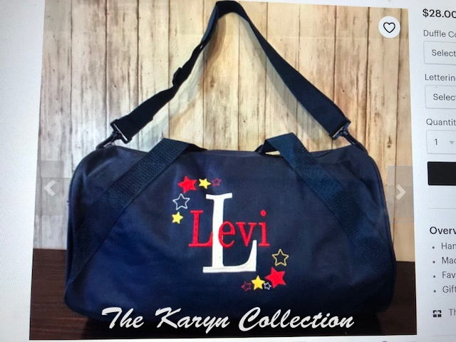 Levi's navy duffle with shadow stars