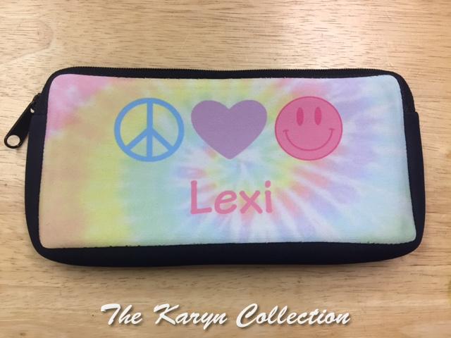 Lexi's tie-dye pencil case