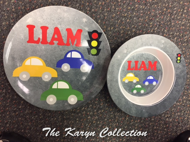 Liam's Cars 2-Piece Dish Set