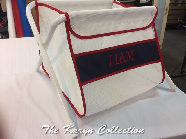 Liam's Red and Navy Toy Bin