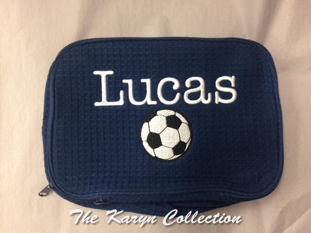 Lucas 2-Zipper Soccer Waffle Bag