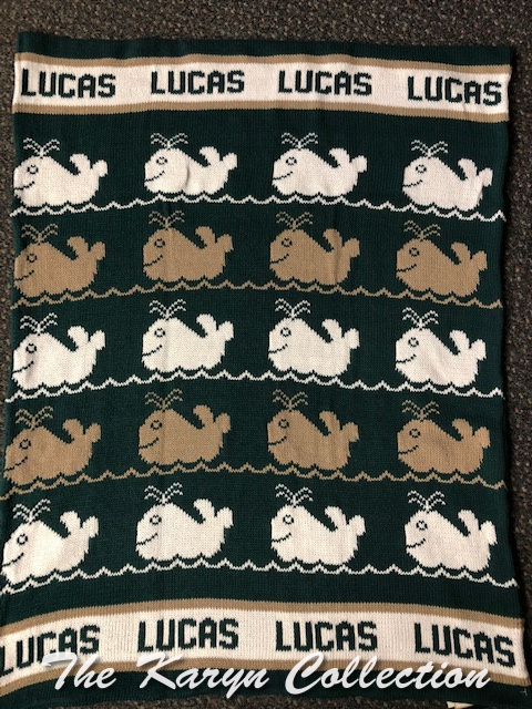 *EXCLUSIVELY OURS - Luca's all cotton whale blanket