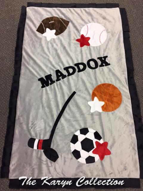 Maddox Sports Toddler Minky Blanket