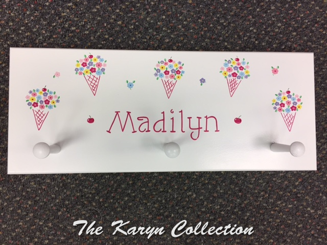 Madilyn's Ice Cream Cone Wall Coat Rack