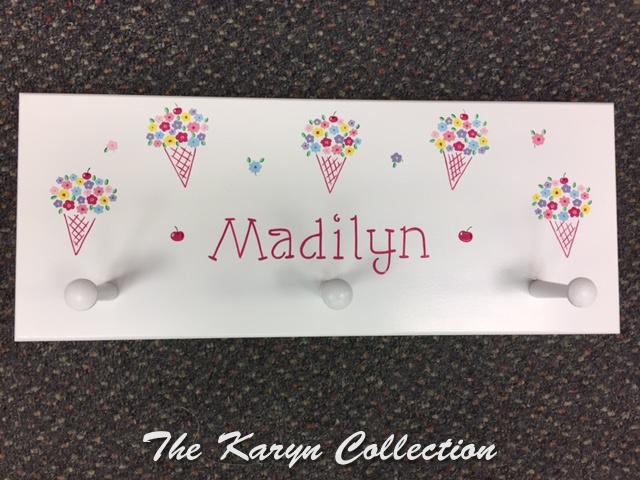 Madilyn's Ice Cream Cone Wall Coat Rack