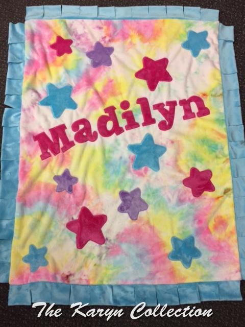Madilyn's Tie Dye All Star Blanket