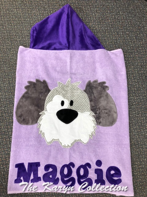 Maggie's Purple Dog Toddler Towel